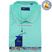 Мужские классические однотонные рубашки на 7 км (ворот 39- 46) (vk47-3)