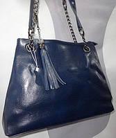 Кожаная женская сумка летняя купить недорого в Одессе оптом (35*28 см)