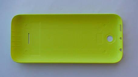 Задняя крышка Nokia 225 DS, жёлтая, оригинал, 9448779, фото 2