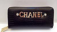 Женский кошелек Chanel две молнии, отделение для телефона черный цвет