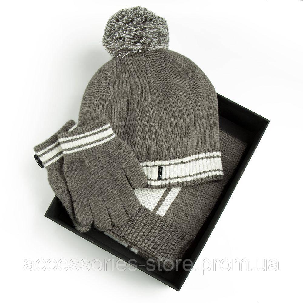 Детский набор из шапки, шарфа и перчаток Jaguar Children Winter Set, Grey Marl