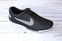 Летние мужские кроссовки, сетка, ММС2, черные, 40 размер