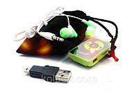 MP3 плеер + USB + ВАКУУМНЫЕ НАУШНИКИ + МЕШОЧЕК, фото 1