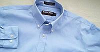 Рубашка голубая оксфорд котон Размер М,100% котон