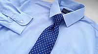 Mужская рубашка Marks & Spencer голубая Размер 15,5 Ворот 39