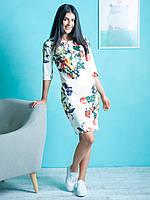 Молодёжное платье с цветочным принтом