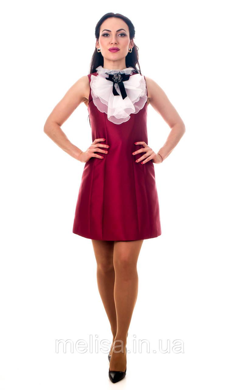 74748657a7735b0 Купить Красное короткое платье с жабо в Украине, Харькове, Киеве ...