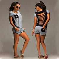 Женский  костюм (футболка + шорты) СС7066