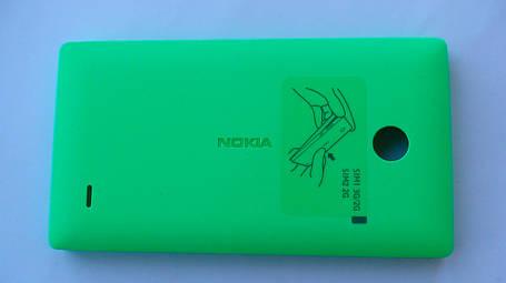 Задняя крышка Nokia X, зелёная, оригинал, 8003220, фото 2