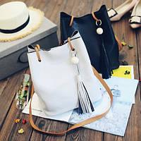 Набор 2 в 1 (большая сумка-мешок и клатч), 2 цвета