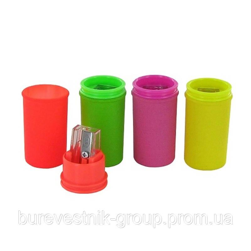 "Точилка для карандашей ( pencil sharpener ) с контейнером KUM "" Mini Neon """