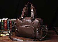 Чоловіча шкіряна дорожня сумка MCGOR. Модель 04290, фото 3