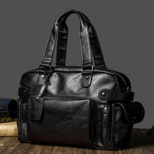 Чоловіча шкіряна дорожня сумка MCGOR. Модель 04290