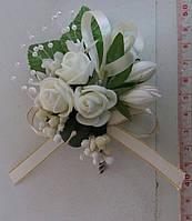 Свадебная кремовая/айвори бутоньерка