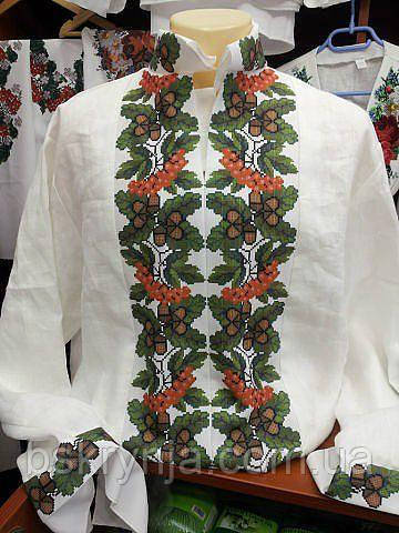 Заготовка чоловічої сорочки для вишивки нитками/бісером БС-21ч