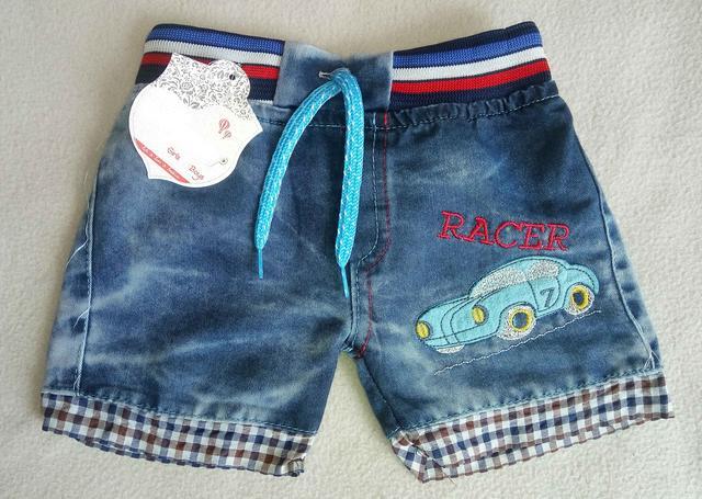 Детские джинсовые шорты для мальчиков 1-5 лет