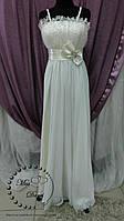 Свадебное платье ампир айвори (бежевое)