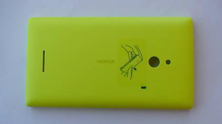 Задняя крышка Nokia XL, жёлтая, оригинал, 8003382, фото 2
