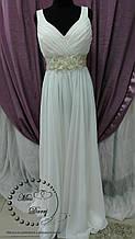 Вечернее платье бежевое длинное