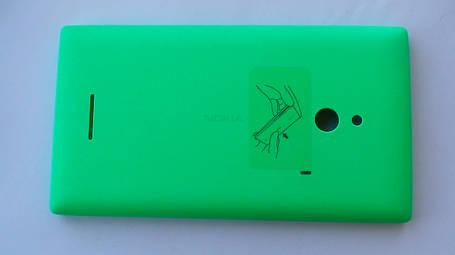 Задняя крышка Nokia XL, зелёная, оригинал, 8003383, фото 2