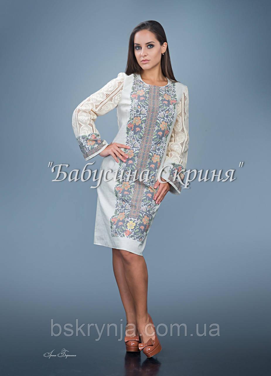 Заготівля голови чортківської жіночої сукні для вишивки нитками/бісером БС-88с