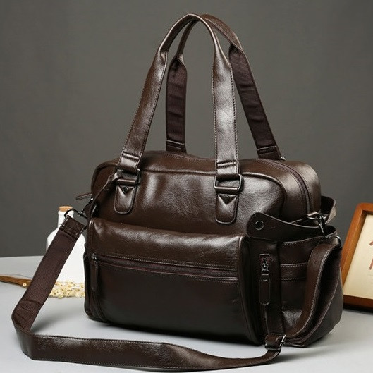 Мужская кожаная дорожная сумка MCGOR. Модель 04291