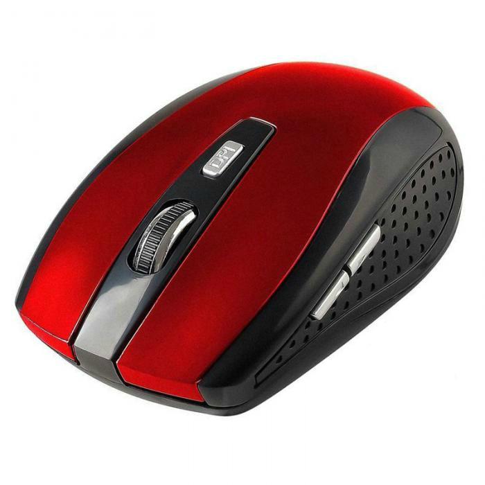 Беспроводная мышь Receiver Wireless 2.4GHz (Красный)