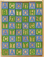 Кубики деревянные с украинским алфавитом в наборе