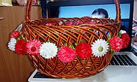 """Декоративная композиция/украшение на пасхальну корзину """"Нежные цветы 2"""""""
