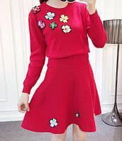 Костюм женский (кофта+юбка) с вышивкой-пайетки+бисер,магазин одежды