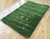 Зеленый ворсистый ковер Shaggy-loop