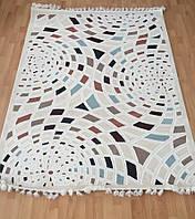 Красивый турецкий коврик белого цвета  3313