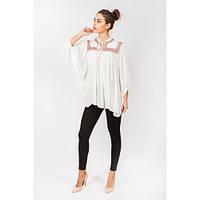 Женская блуза біла вишита