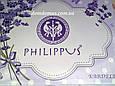 """Махровая простынь""""Ромашка"""" Philippus 200*220, голубая, фото 2"""
