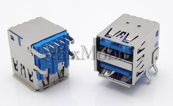 Разъем USB 3.0  мама, гнездо, U301
