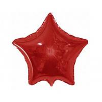 """Фольгированный шар Звезда мини 9"""" 23 см красная металлик"""