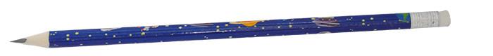 Карандаши графитные ZiBi COSMOS НВ 5 шт. с ластиком ZB.2303-5