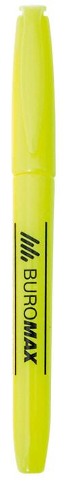 Маркер текстовыделитель Buromax желтый круглый BM.8903-508