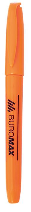 Маркер текстовыделитель Buromax оранжевый круглый BM.8903-511