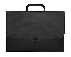 Портфель BUROMAX 210x297x35мм 1 отделение пластик замок черный (BM.3735-01)