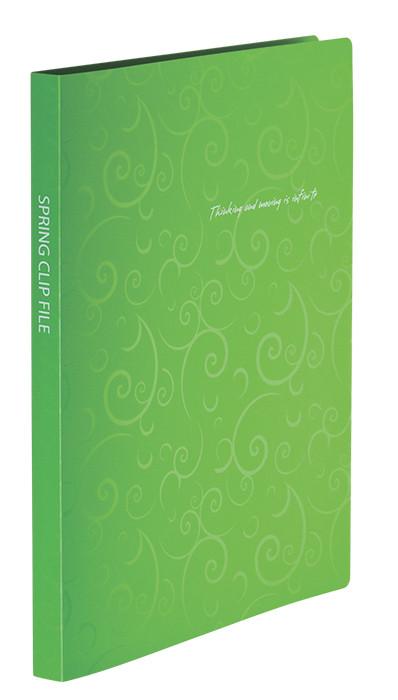 Папка-скоросшиватель Buromax А4 салатовый Barocco с пружиной, бок. карм. (BM.3409-15)