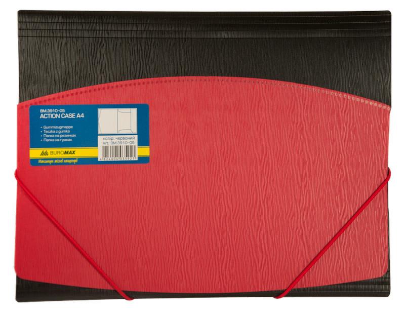 Папка на резинках Buromaxt А4 двухцветная красная BM.3910-05