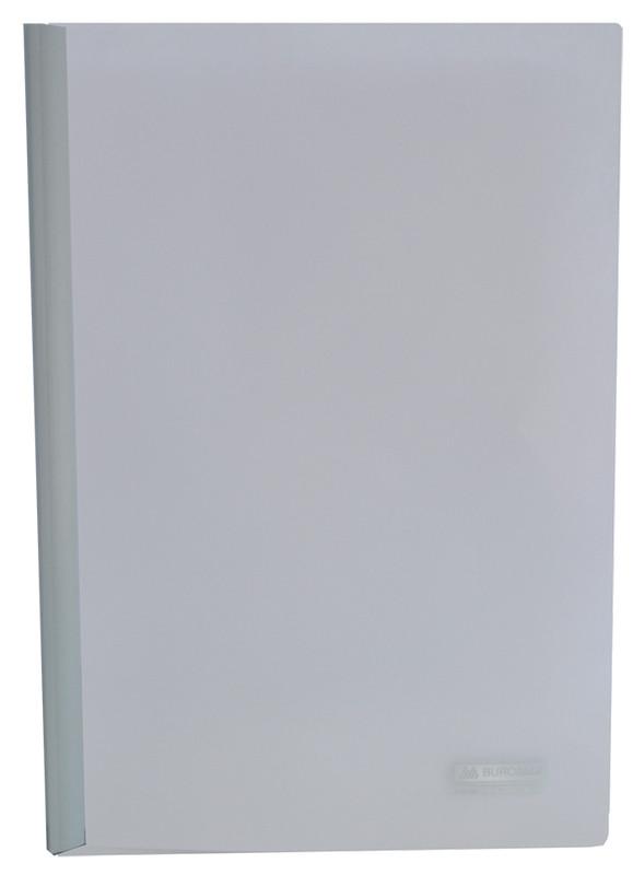 Скоросшиватель Buromax А4 ассорти 4 цв с бок. прижимом, с планкой, 15мм (BM.3372-99)