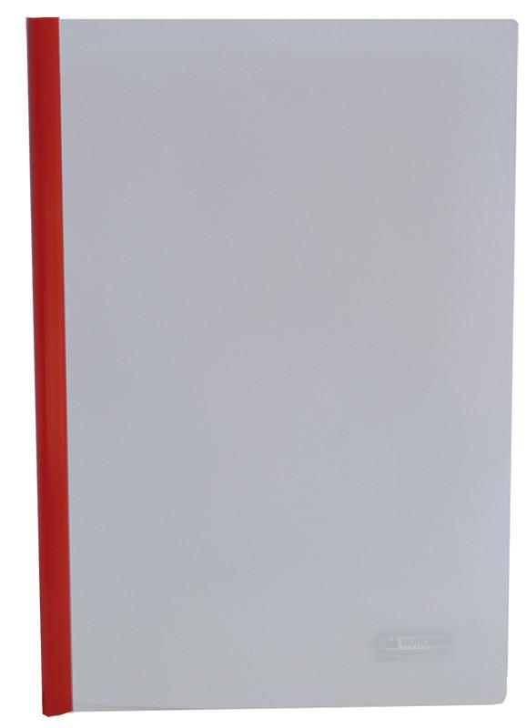 Папка скоросшиватель Buromax А4 прижим 15мм красный BM.3372-05