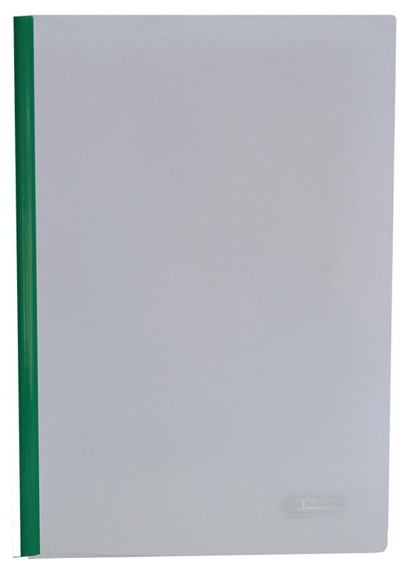 Папка скоросшиватель Buromax А4 прижим 6мм зеленый BM.3370-04