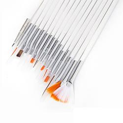 Кисти для дизайна ногтей, набор 15 штук в чехле.