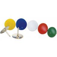 Кнопки канцелярские (Buromax, цветные, с покрытием, 50 шт., BM.5177)