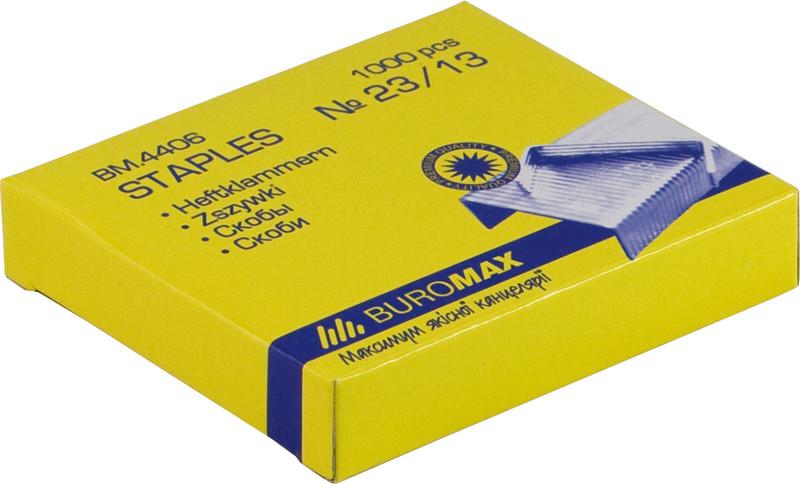 Скобы для степлера Buromax Люкс №23/13 1000шт BM.4406