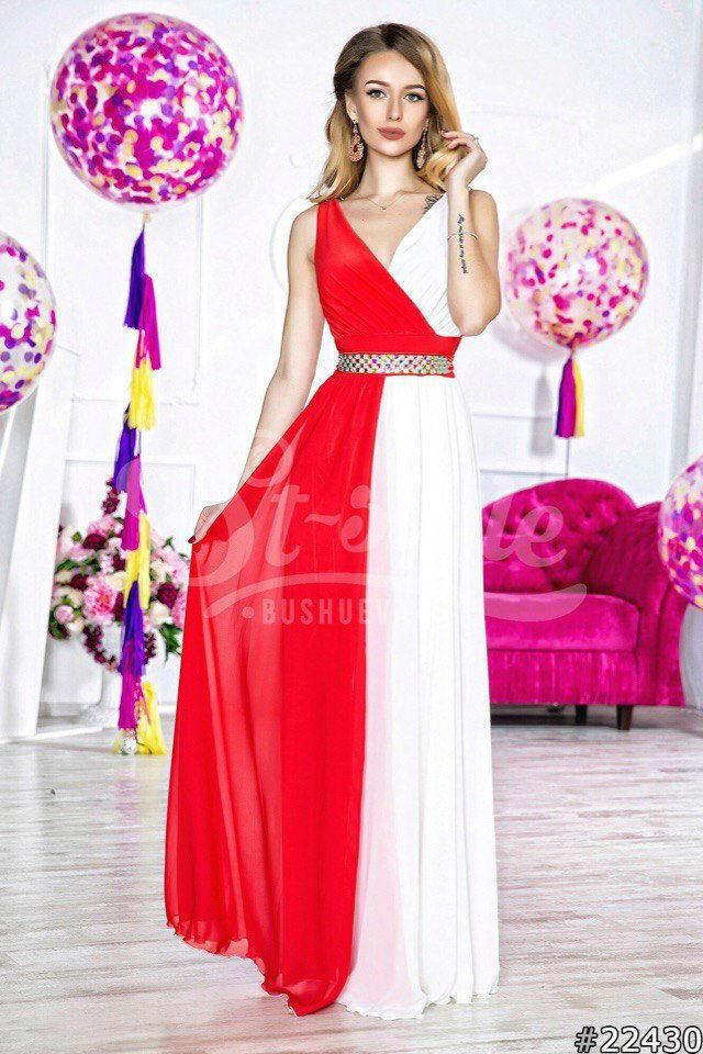 bbdcc3588d3 Яркое платье в пол из шифона с подкладой  продажа