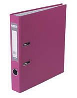 Папка регистратор,  5см (LUX, Buromax, А4, одностор. покр, РР, розовый, BM.3012-10c)